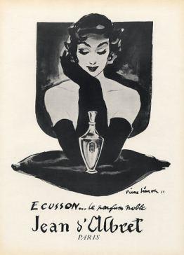 jean-d-albret-1947-ecusson-pierre-simon-vintage perfume ad