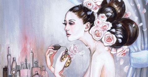 Resultado de imagem para perfume painting